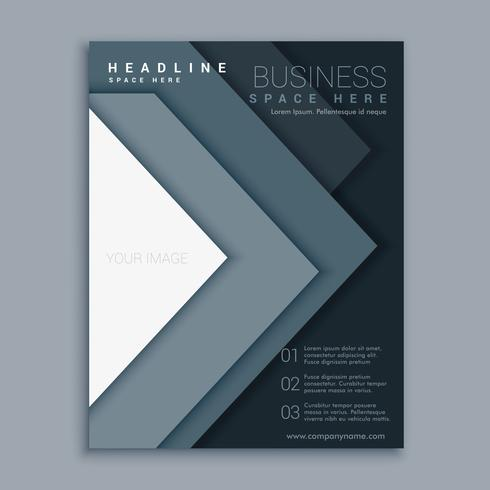 elegant minimal business flyer brochure design