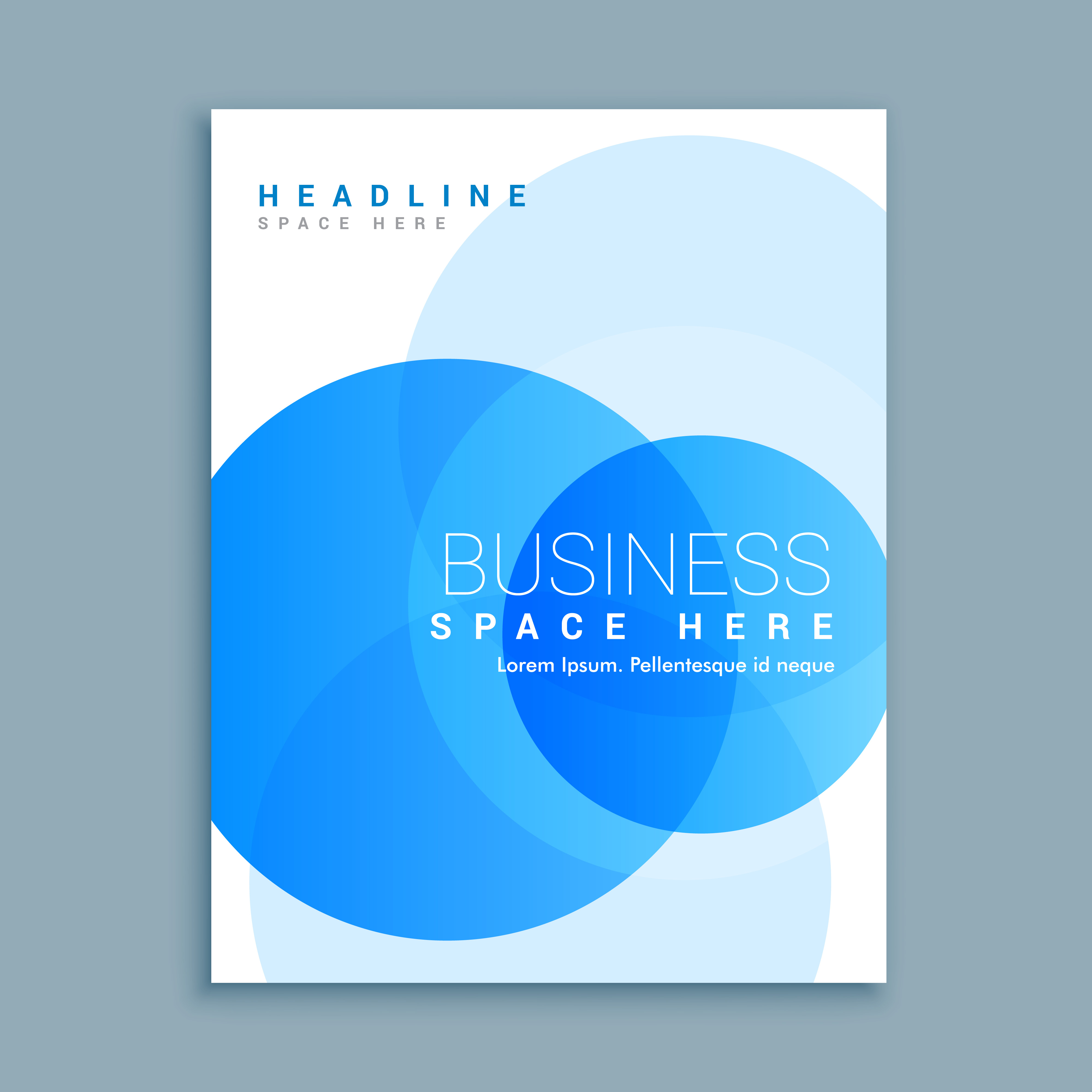 Business Cover Page Brochure Template