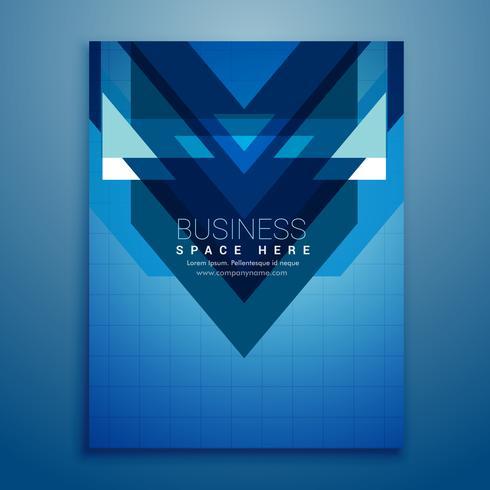 abstracte blauwe brochure flyer ontwerp vector