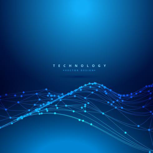 technologie numérique maille vague vector illustration de conception