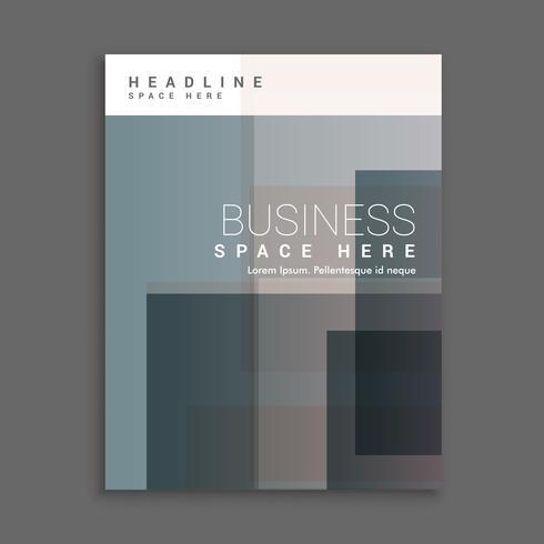 diseño de plantilla de página de portada empresarial