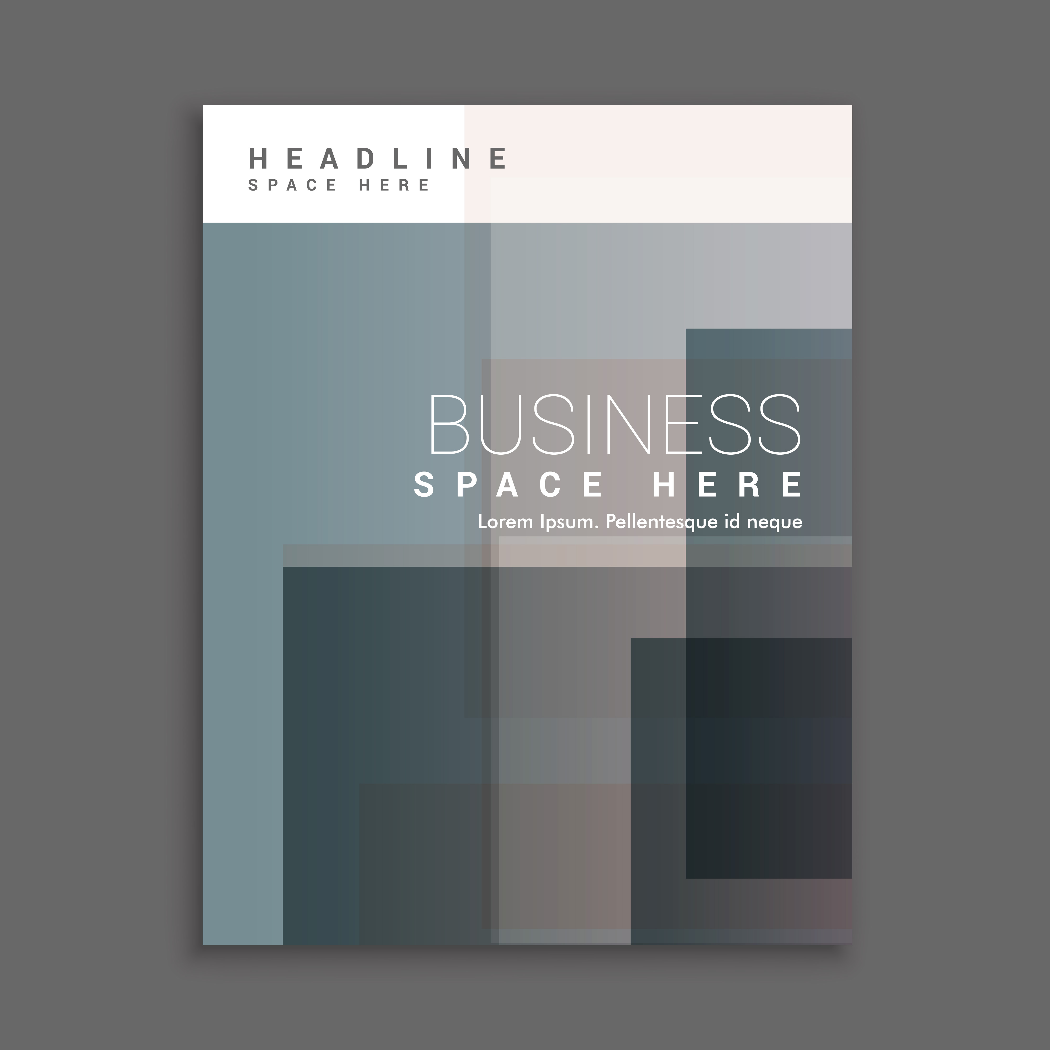 Business Cover Page Template Design