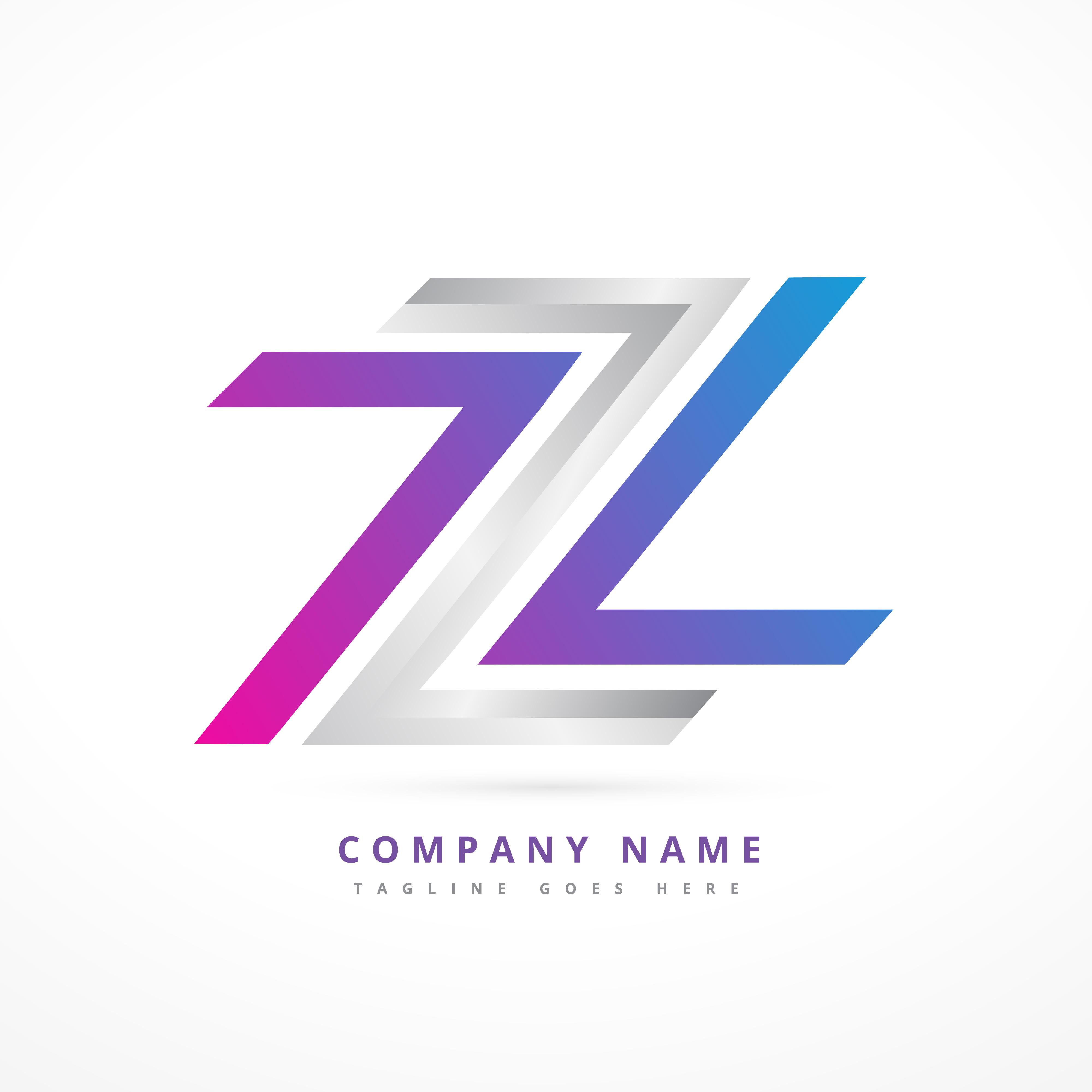 Abstract Letter Logo Design Illustration