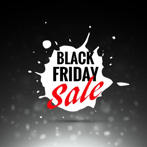 black friday sale vector label design in splash