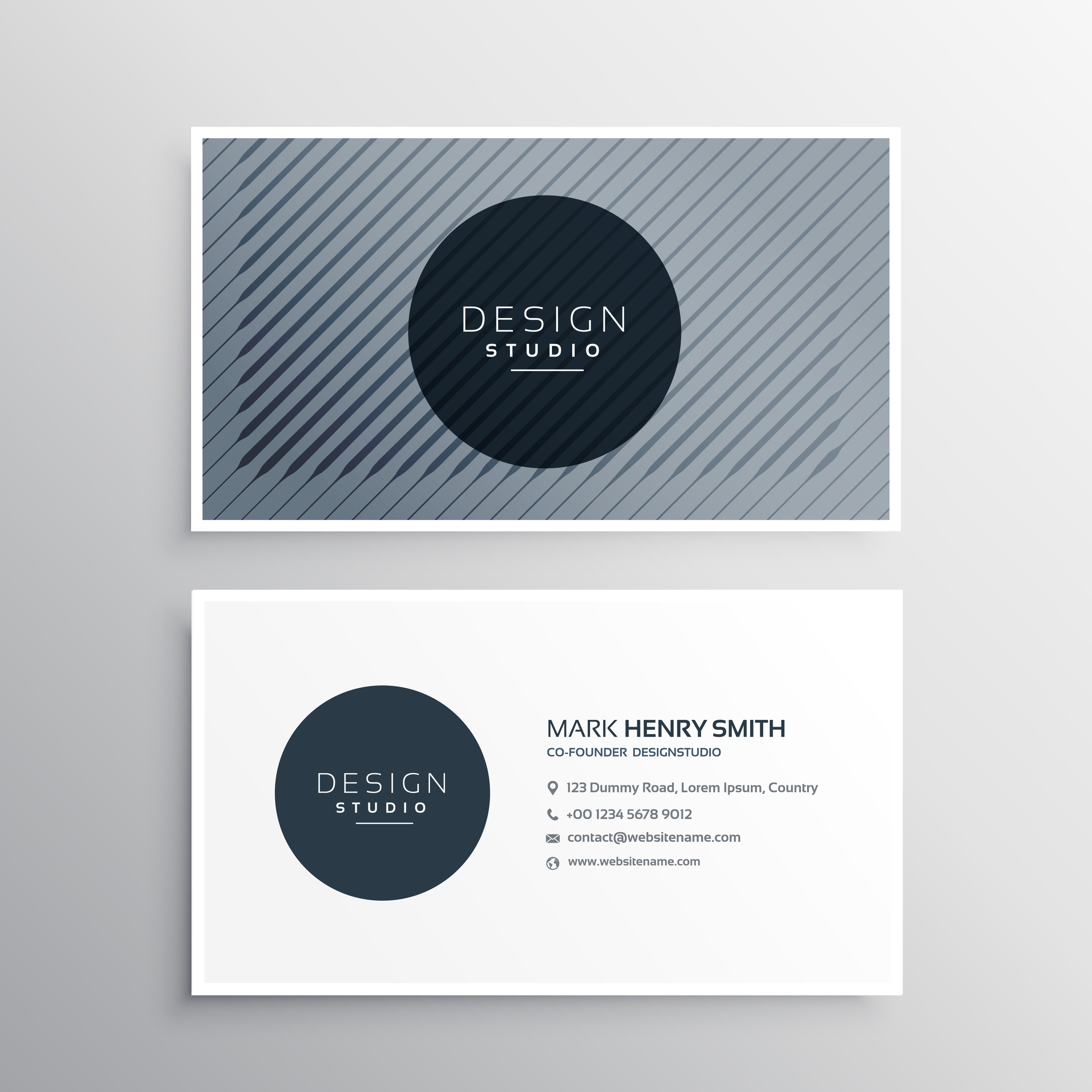 Company business card layout template with abstract pattern line company business card layout template with abstract pattern line download free vector art stock graphics images fbccfo Images
