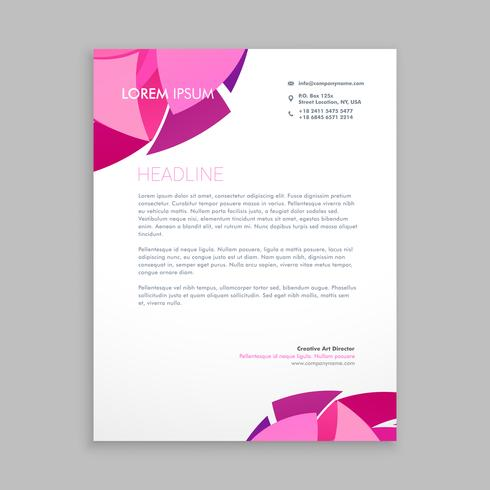 abstract business letterhead design template vector design illus