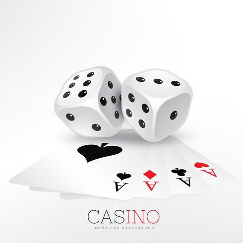 spelkort av kasino med två tärningar