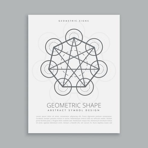 sacred metatron geometric shape