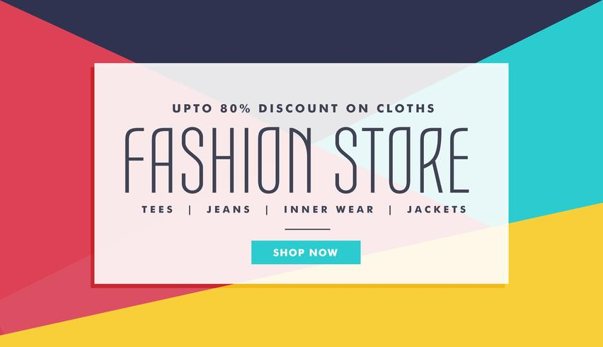 fashion sale voucher, coupon and discount banner for your market