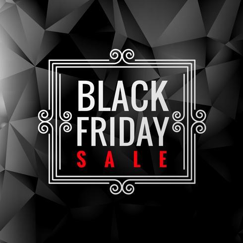 etiqueta de venda sexta-feira negra no escuro
