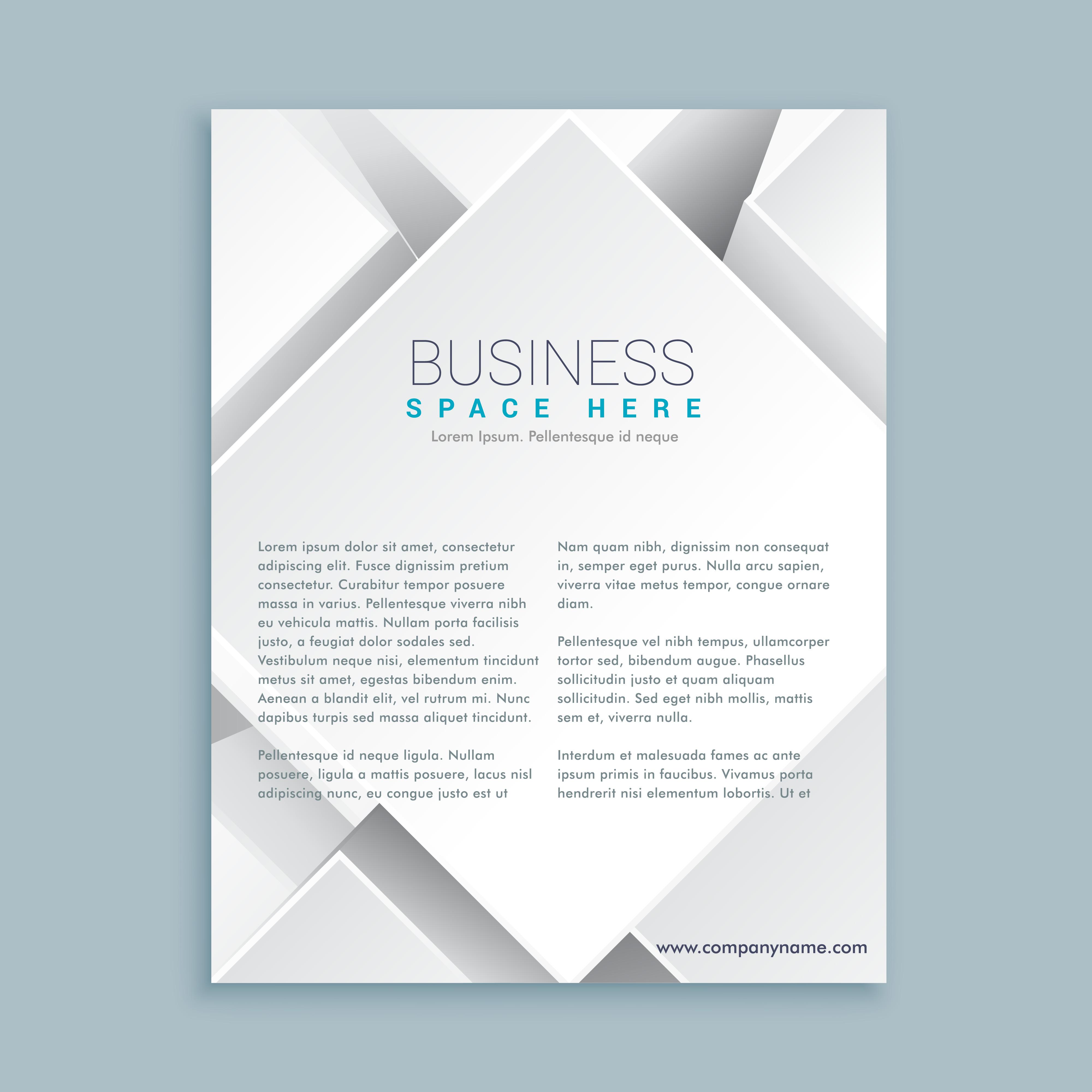 brochure template free vector art