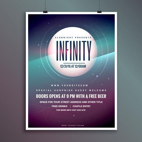 party invitation flyer templatewith colorful abstract background