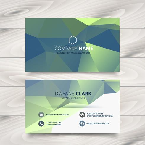 creative polygonal business card design art