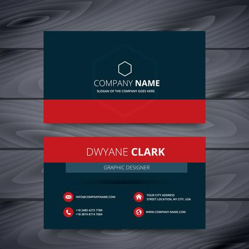 clean dark modern business card template design