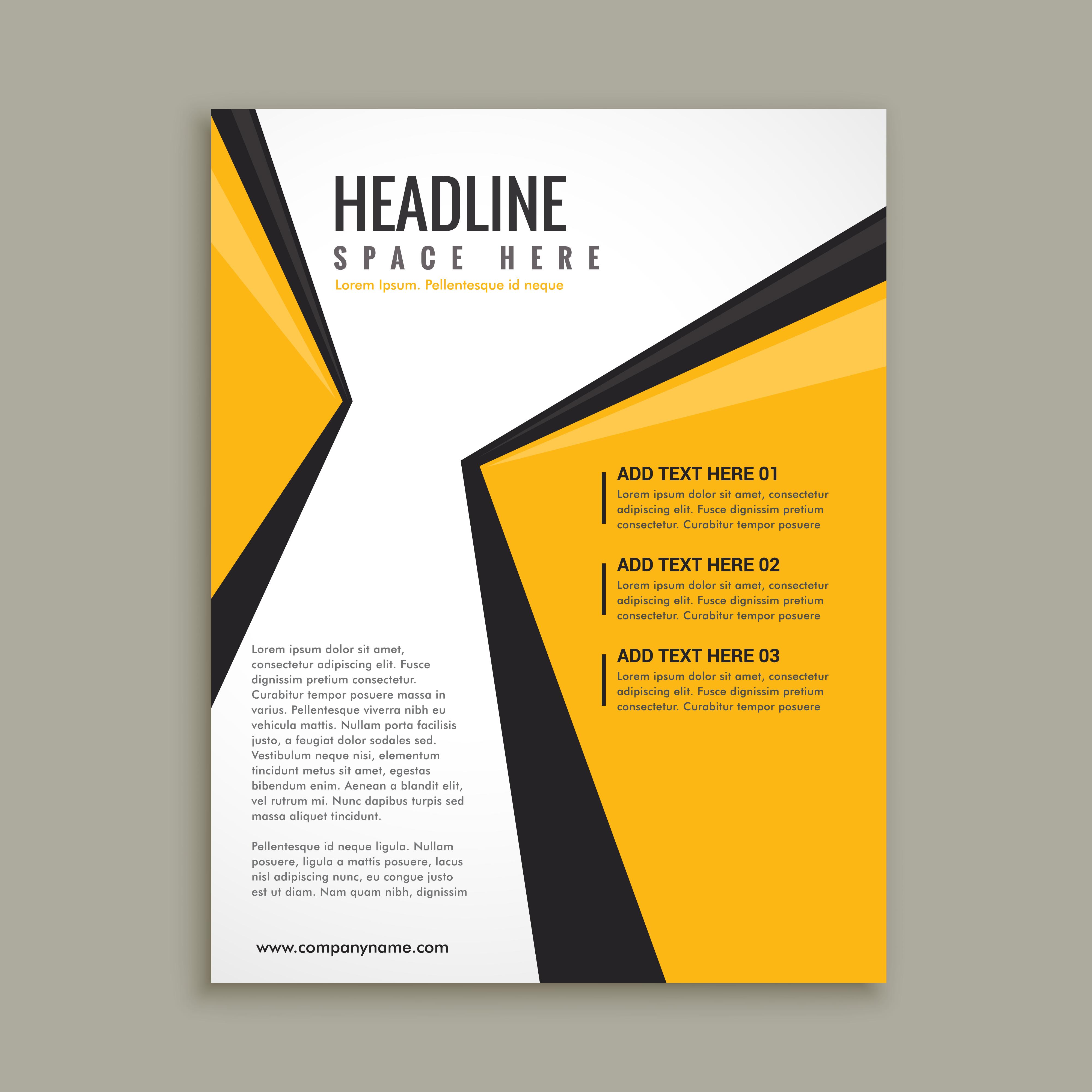 modern business flyer brochure template