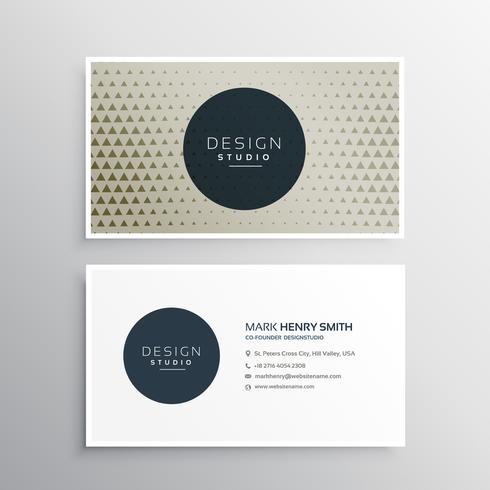 modern business card with triangle pattern