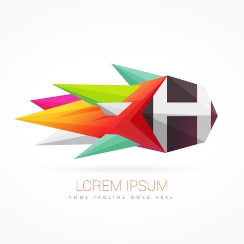 buntes abstraktes Logo mit Buchstaben H