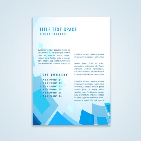 brochure design with geometric shapes