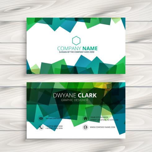 modern business card with abstract shapes template vector design