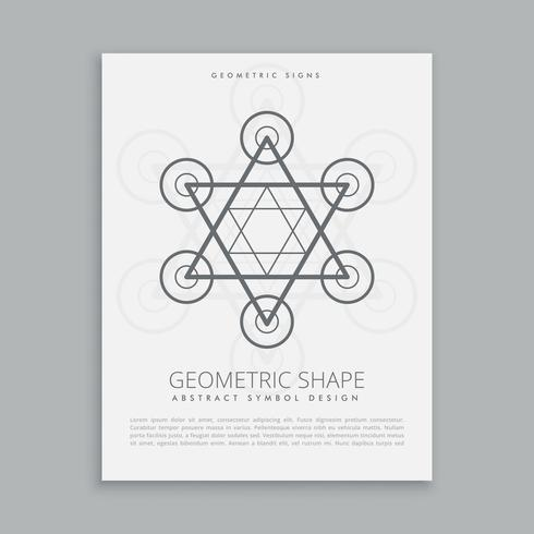 sacred geometry hipster symbol