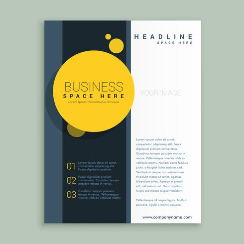 yellow circle brochure design corporate business template for an