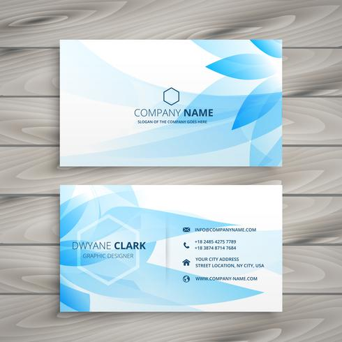 blue flower floral business card template vector design illustra