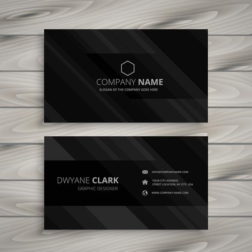 Pure black dark business card template vector design illustratio pure black dark business card template vector design illustratio reheart Gallery