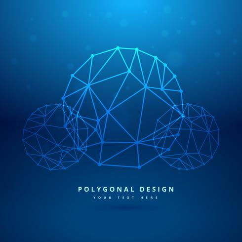 blue sphere polygonal mesh
