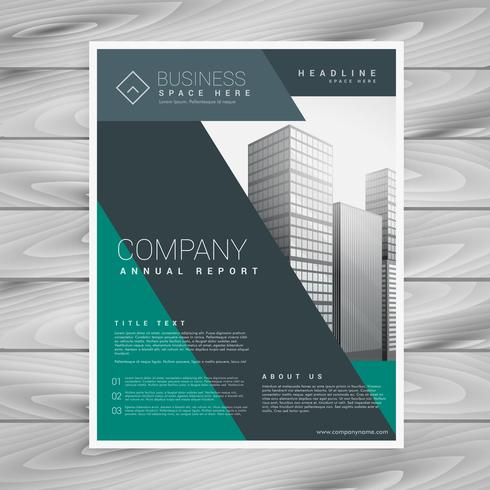 abstract corporate business brochure template design in size A4
