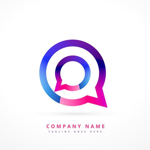 chat logo template design illustration
