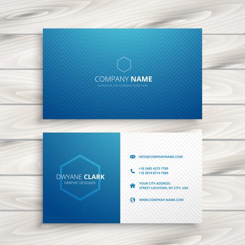 clean simple blue business card template vector design illustrat