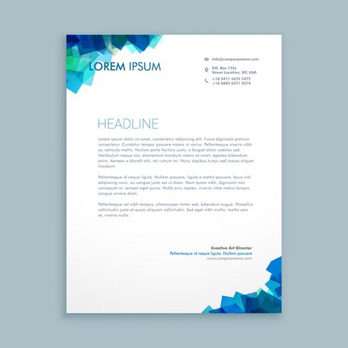 abstract shapes letterhead  template vector design illustration