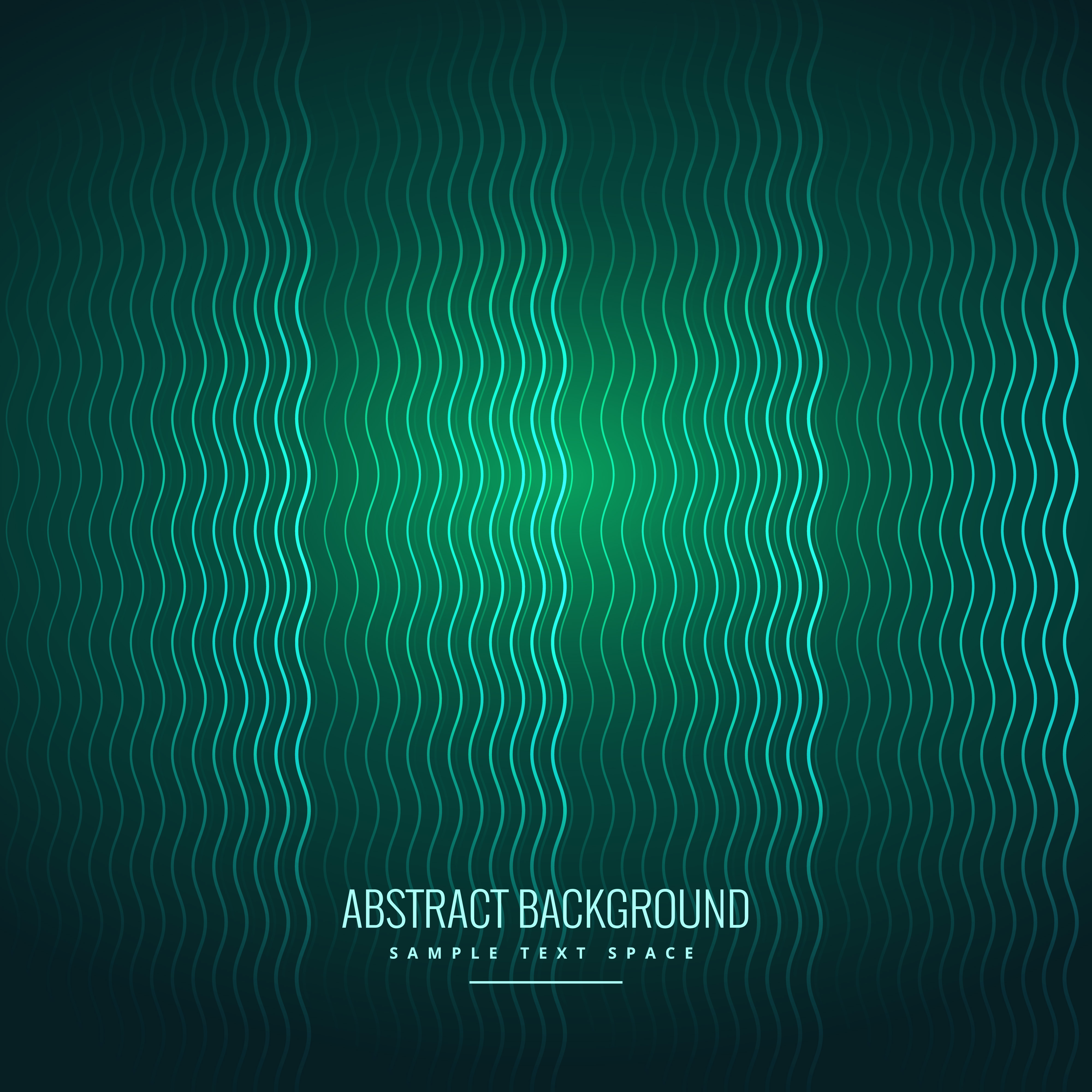 abstract wavy lines green background download free