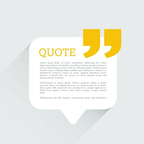 clean chat bubble with quotation message
