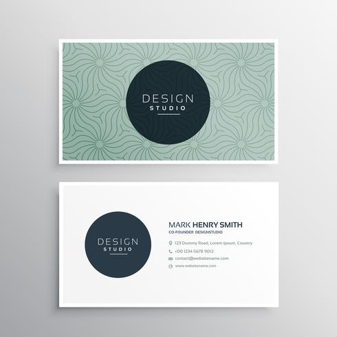abstract company business card template