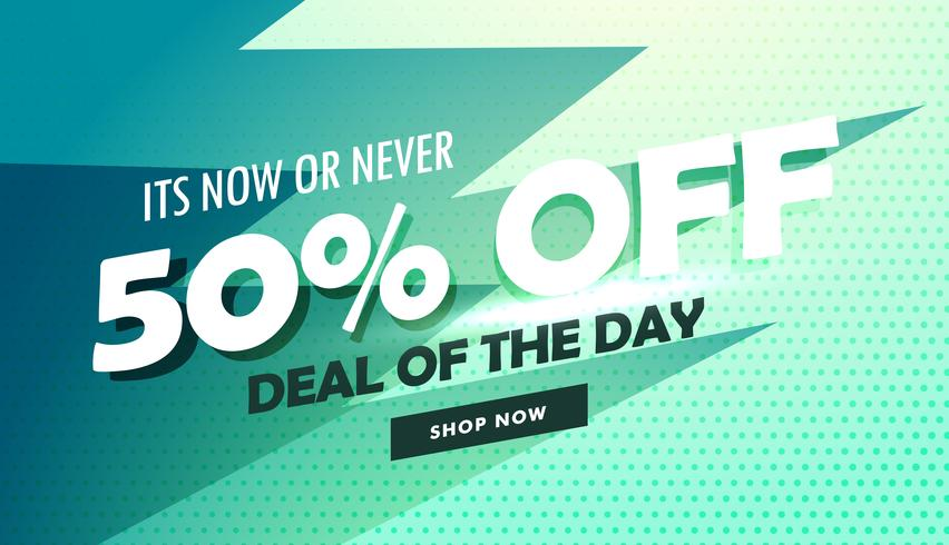 abstract deal of the day sale banner design for marketing and pr