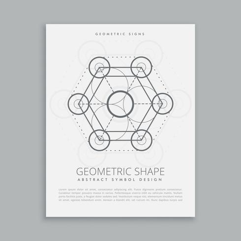 heliga geometriska tecken och symbol