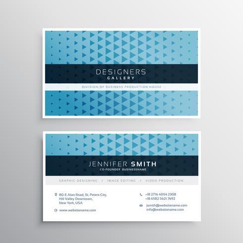 modern blue business card template