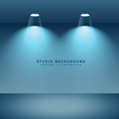 studio background with two spot lights