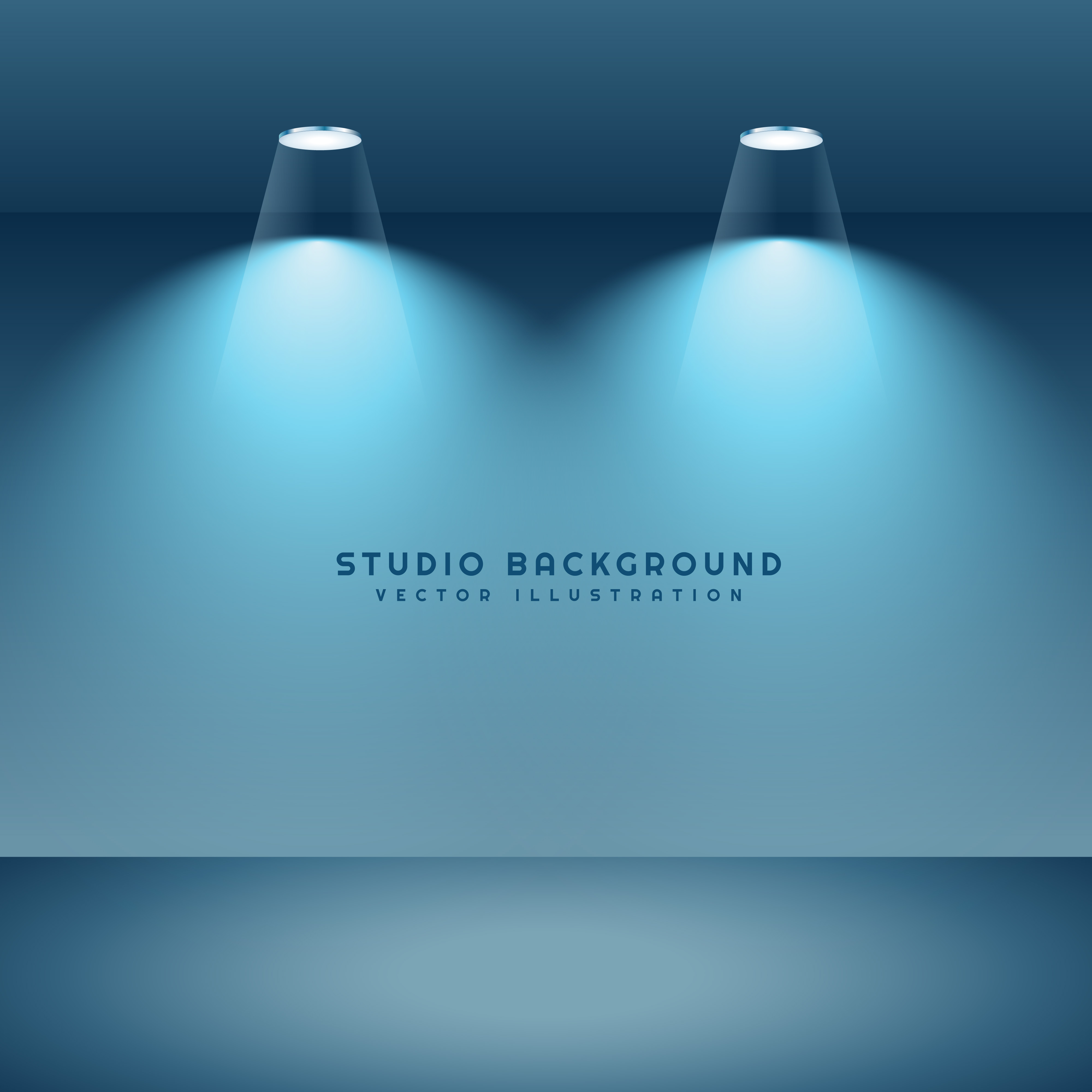 Studio Lighting Software: Studio Background With Two Spot Lights