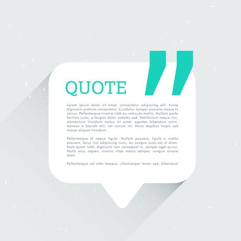 chat bubble with space for your text and quotation