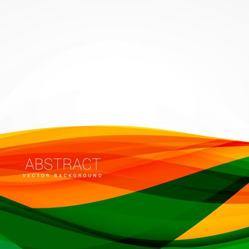 green orange vector wave background design