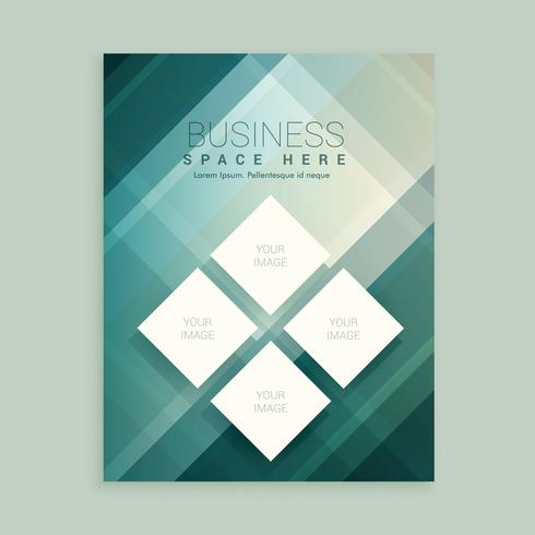 company magazine cover template with abstract shapes