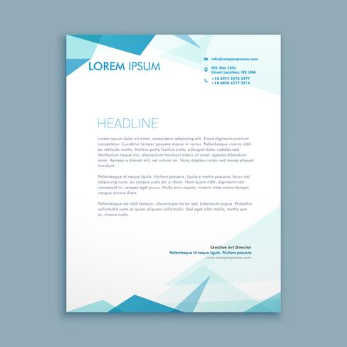 abstract style letterhead template vector design illustration