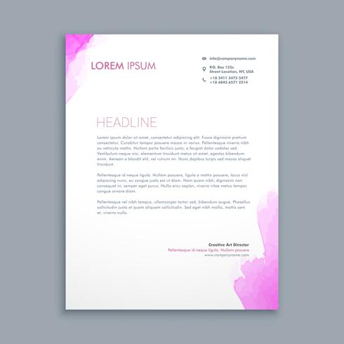 clean corporate letterhead  template vector design illustration