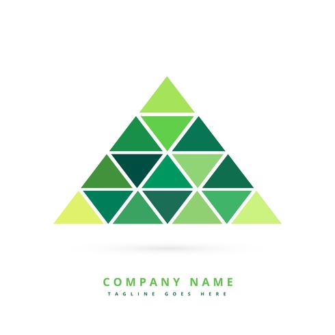 green triangle shapes forming pyramid
