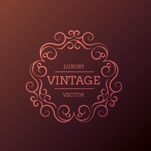 ilustração de design floral luxo vintage frame