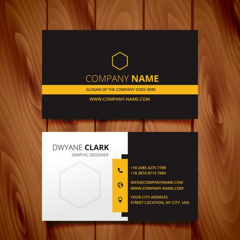 black dark business card modern design vector
