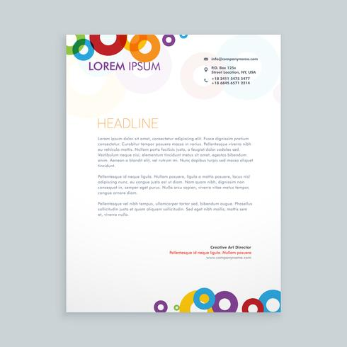 modern creative colorful leterhead  template vector design illus