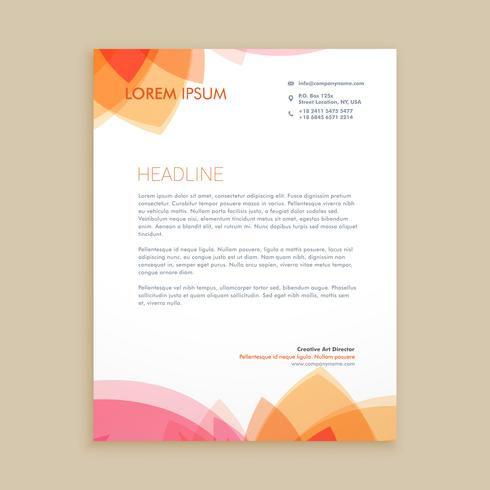 beautiful letterhead business template vector design illustratio